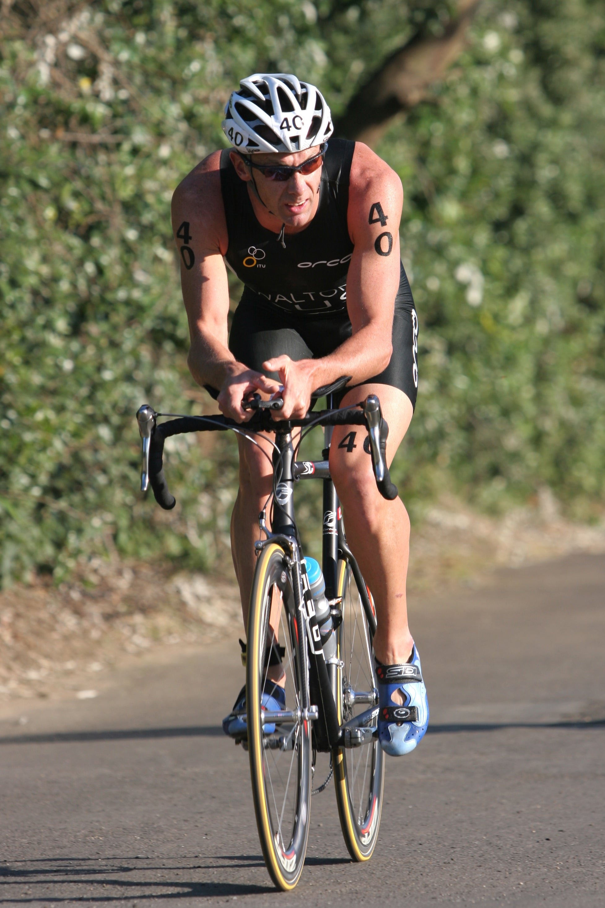 Walton was one of the strongest cyclists in the sport. Photo: Triathlon.org