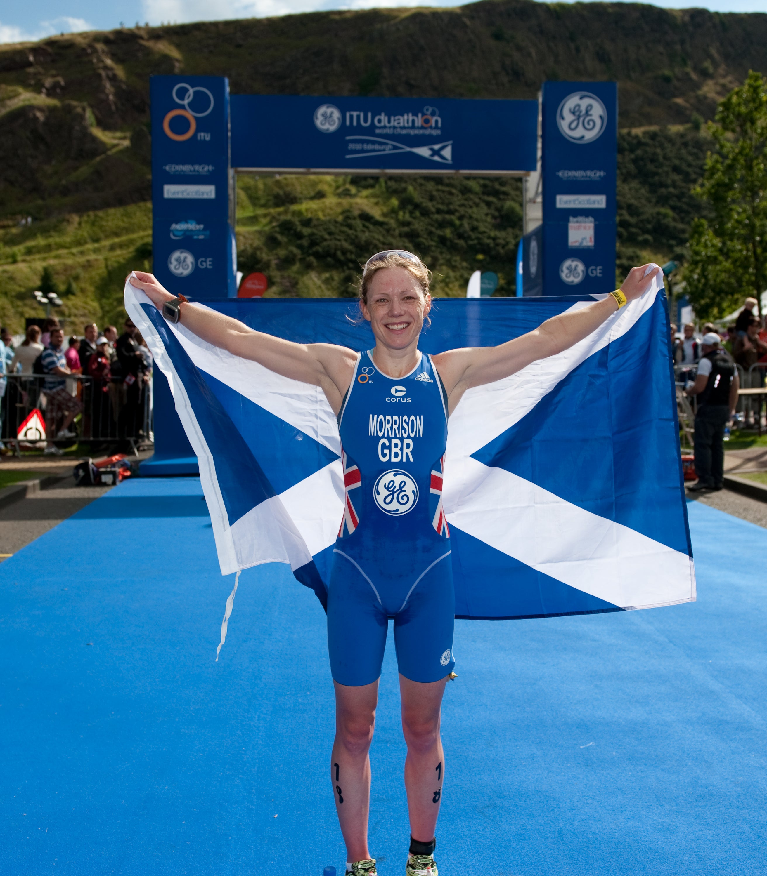 Morrison took the victory in front of a home crowd. Photo: Triathlon.org
