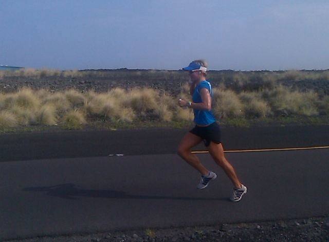 Last year's Ironman World Championship runner-up, Mirinda Carfrae, gave us a wave and a smile as she passed us in the Energy Lab. Check Triathlete.com later for more.