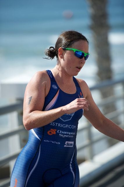 The two swims in the super sprint race helped propel McLarty to victory. Photo: Aaron Hersh