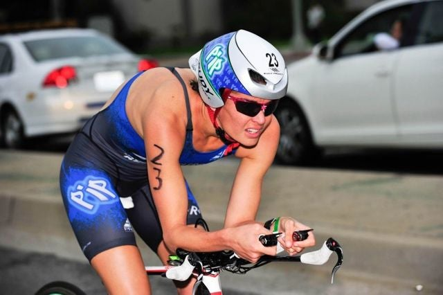 Taylor has kept her speed up by competing in several Olympic-distance races. Photo: Rich Cruse