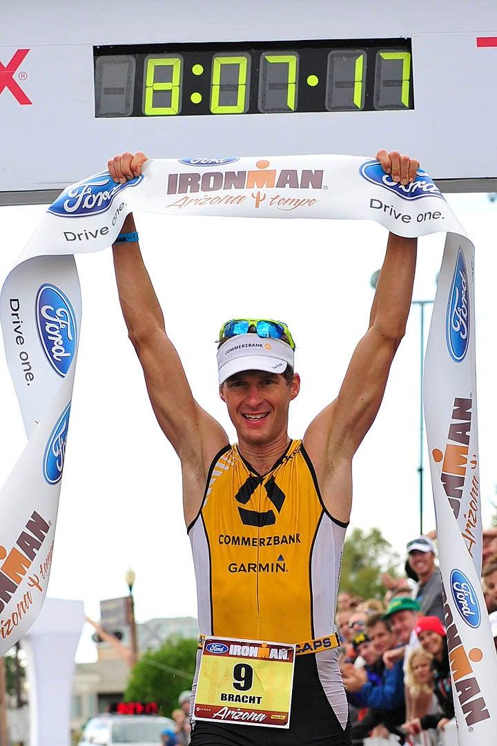 Bracht's win was highlighted by a 2:48:59 marathon. Photo: Rich Cruse