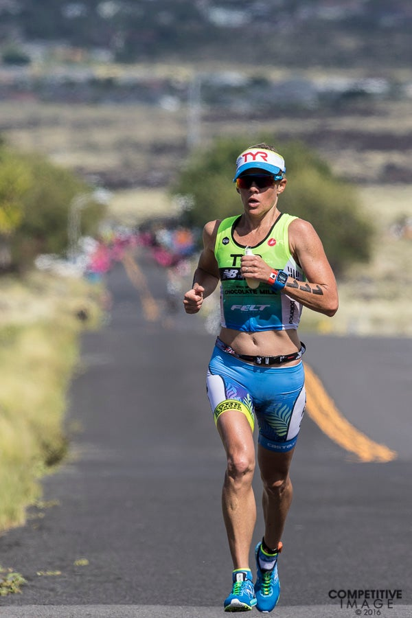 988b5b6b5bbdd Carfrae on her way to second place at the 2016 Ironman World Championship.  Photo  Paul Phillips Competitive Image