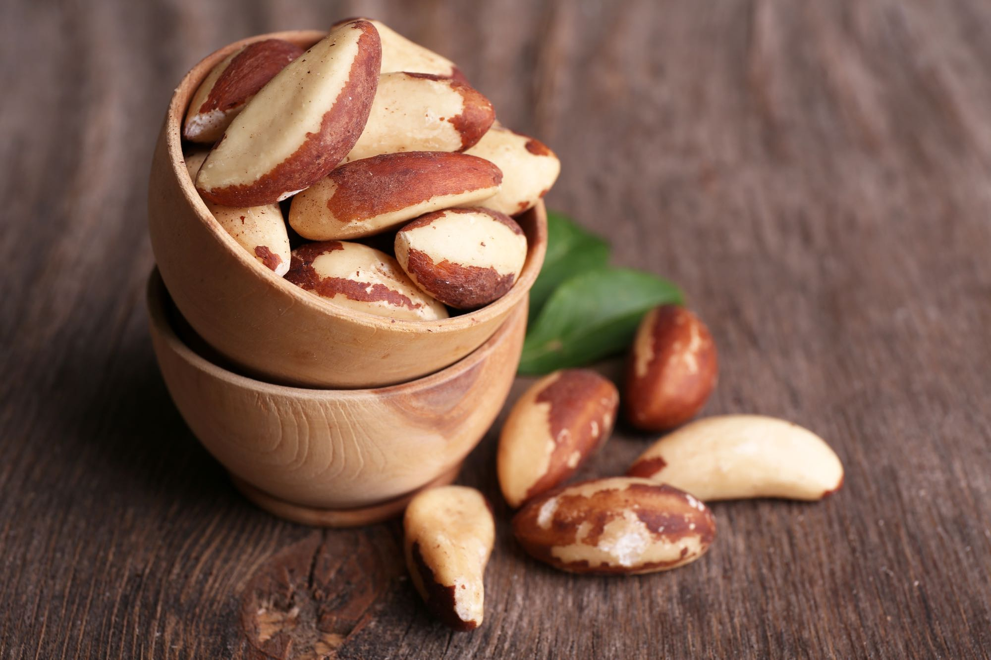 Small bowl of Brazil nuts