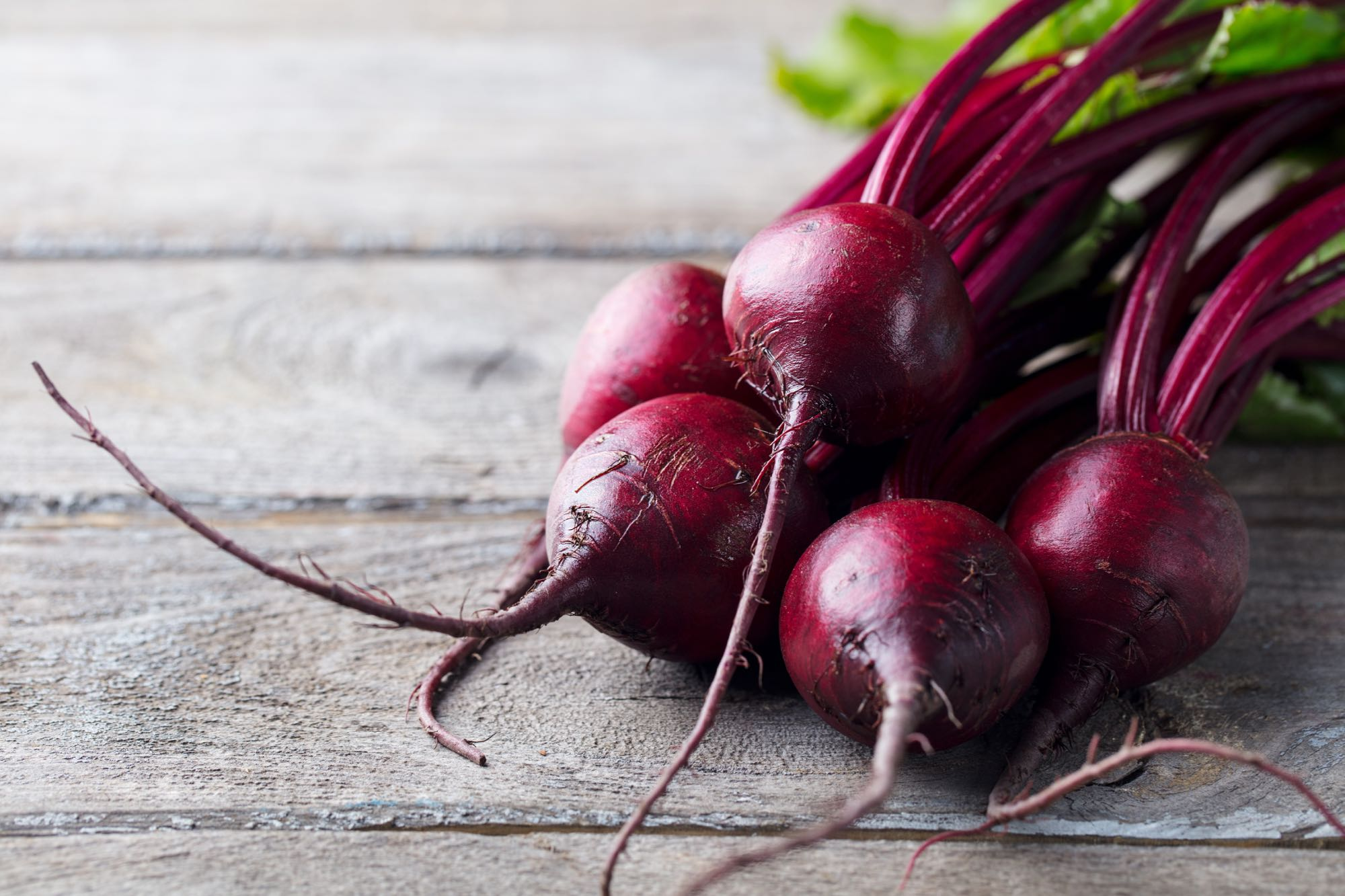 Whole beets on a table