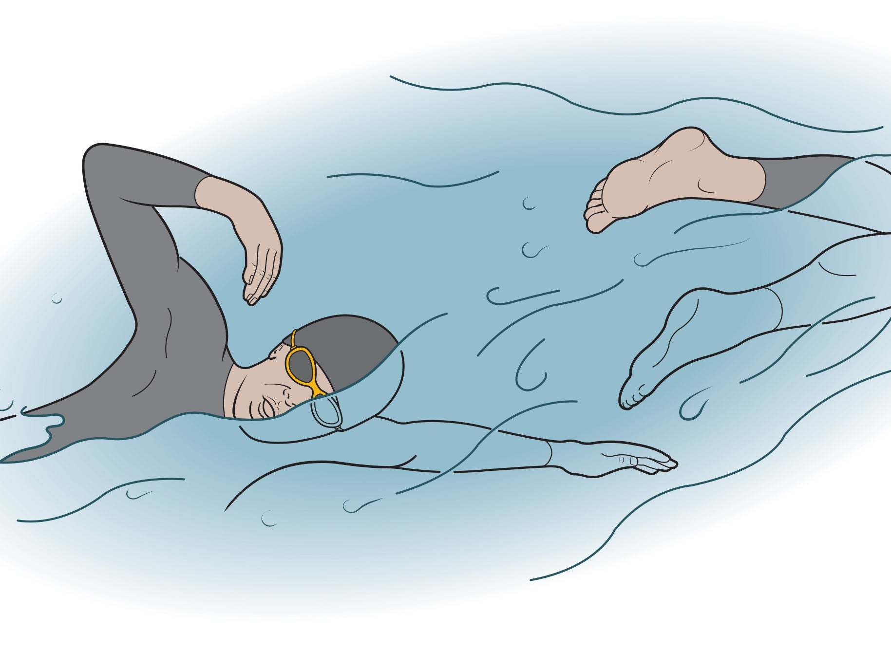 open-water swim skills