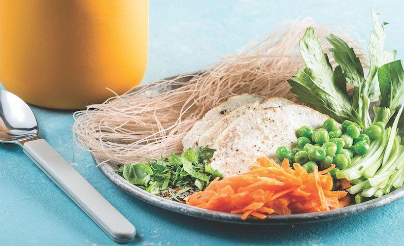Instant chicken noodle soup