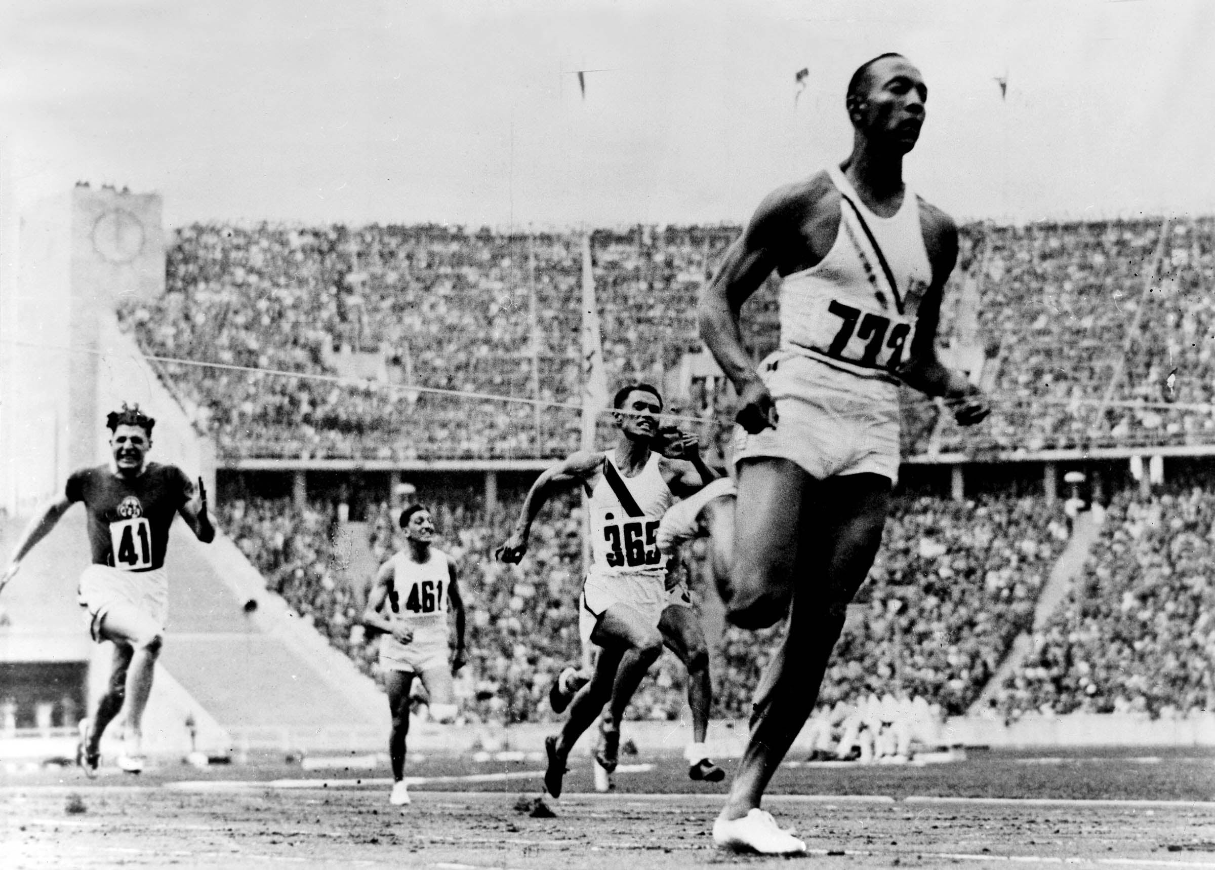 Jesse Owens at the 1936 Olympics
