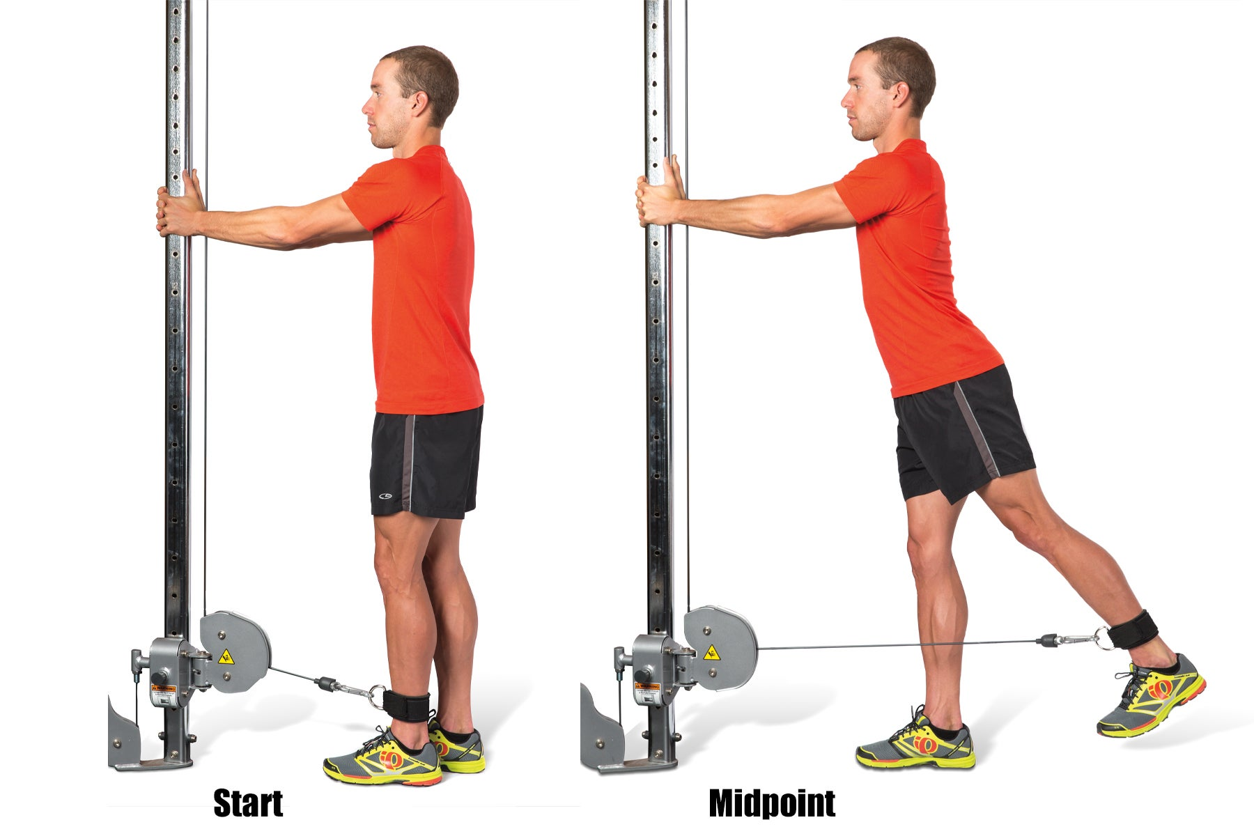 Swimming Strength Training Cable Hip Extension