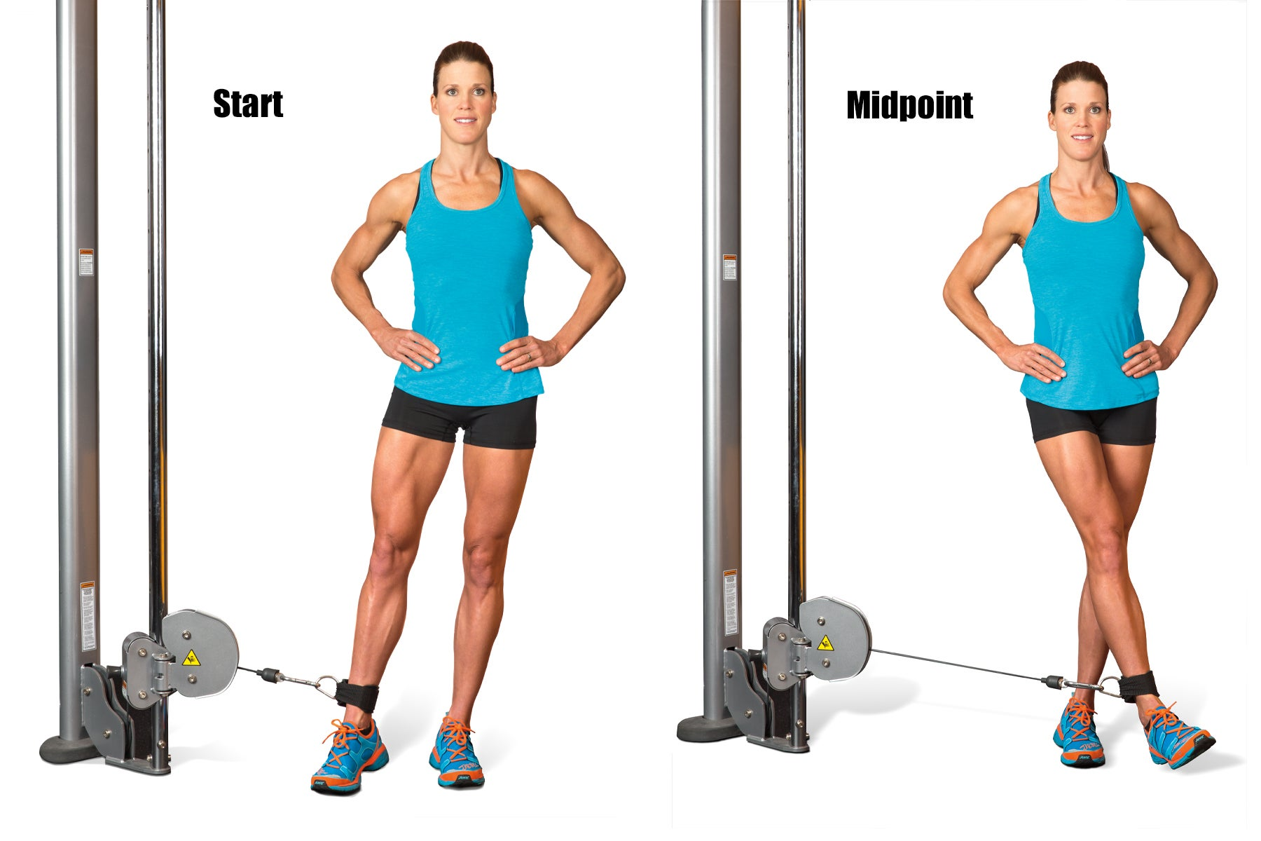 Swimming Strength Training Cable Lateral Cross