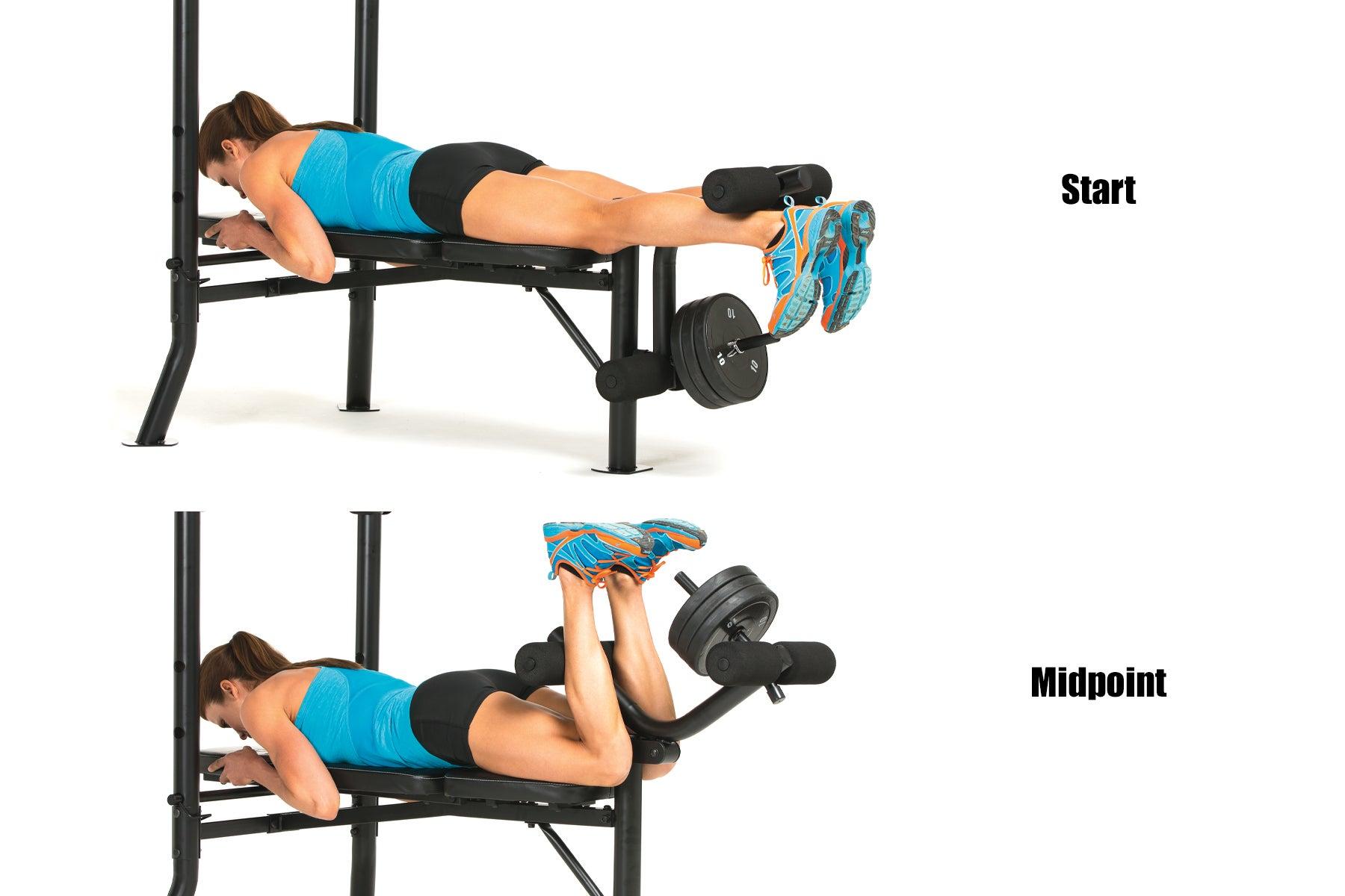 Swimming Strength Training Lying Leg Curl