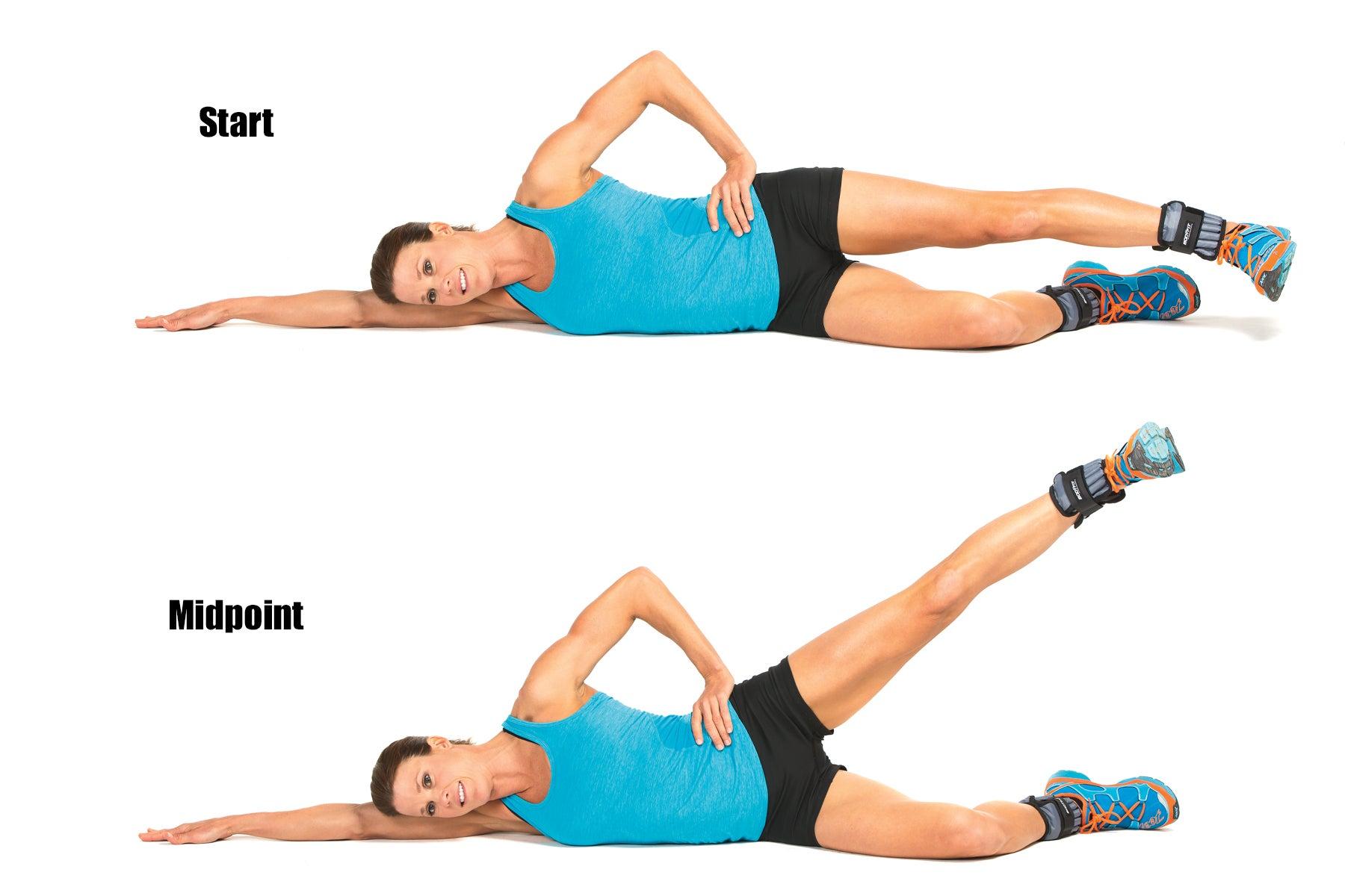 Swimming Strength Training Lying Leg Lift