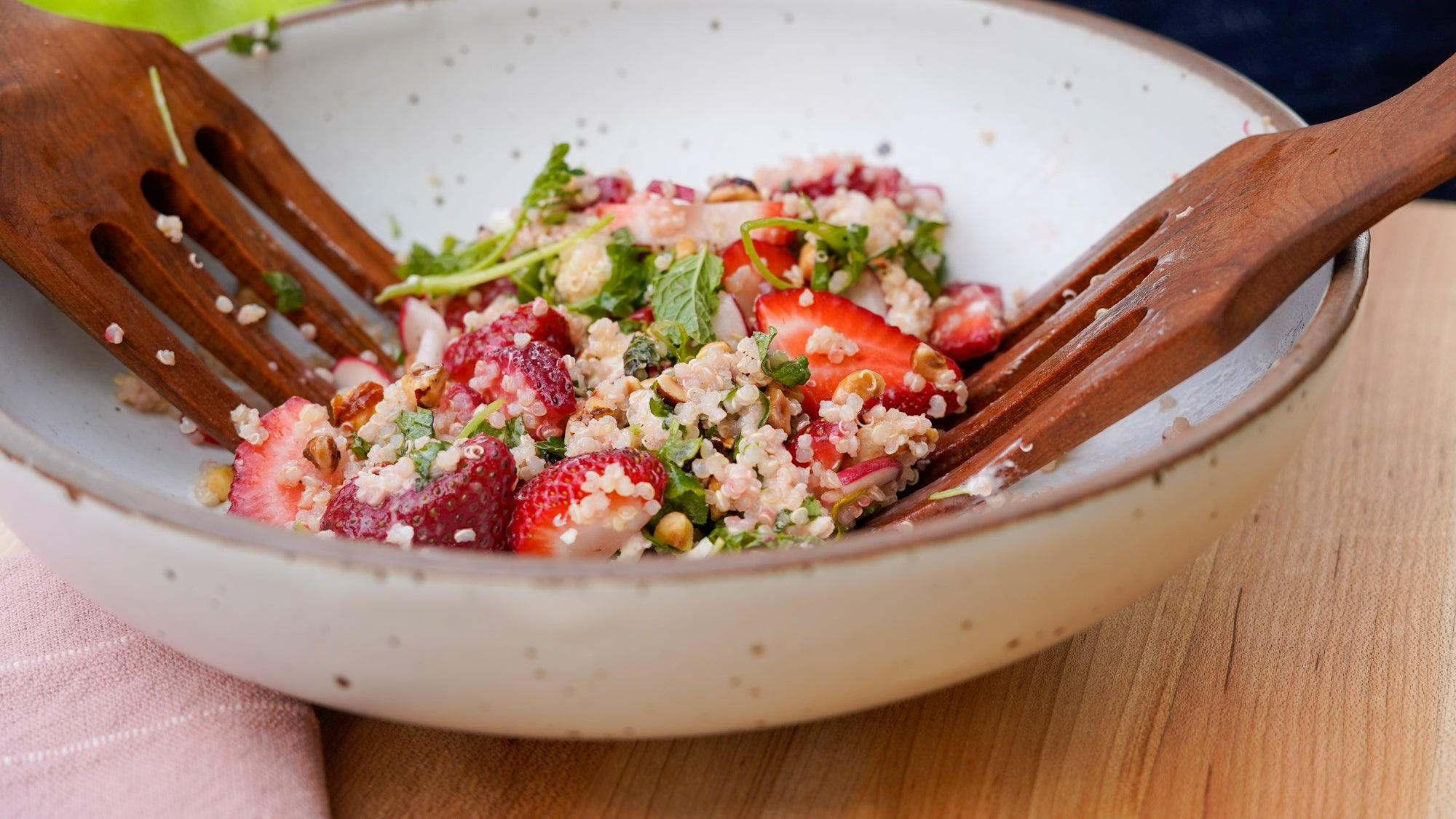 Summer Strawberry and Quinoa Salad