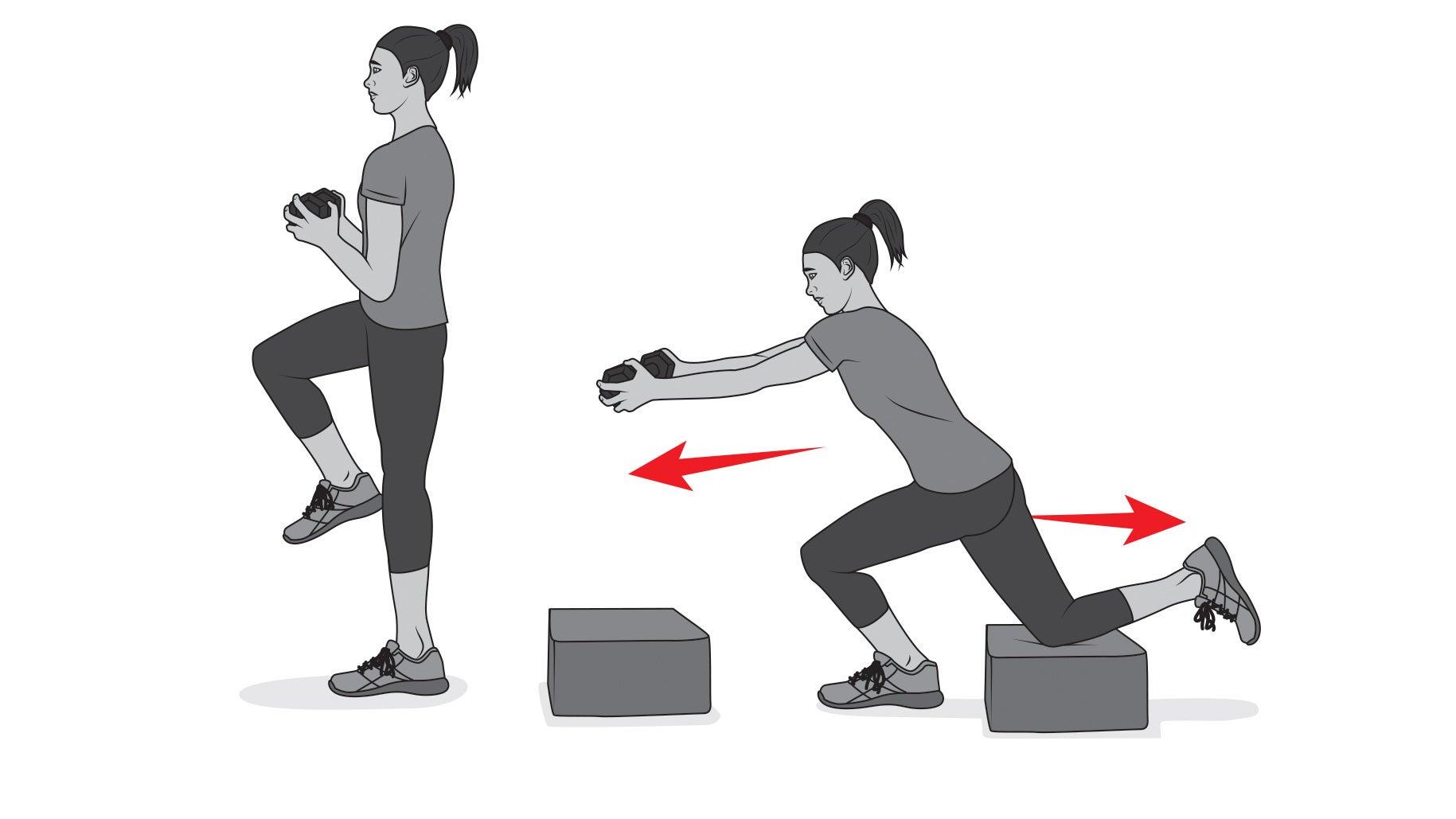 Skater squat