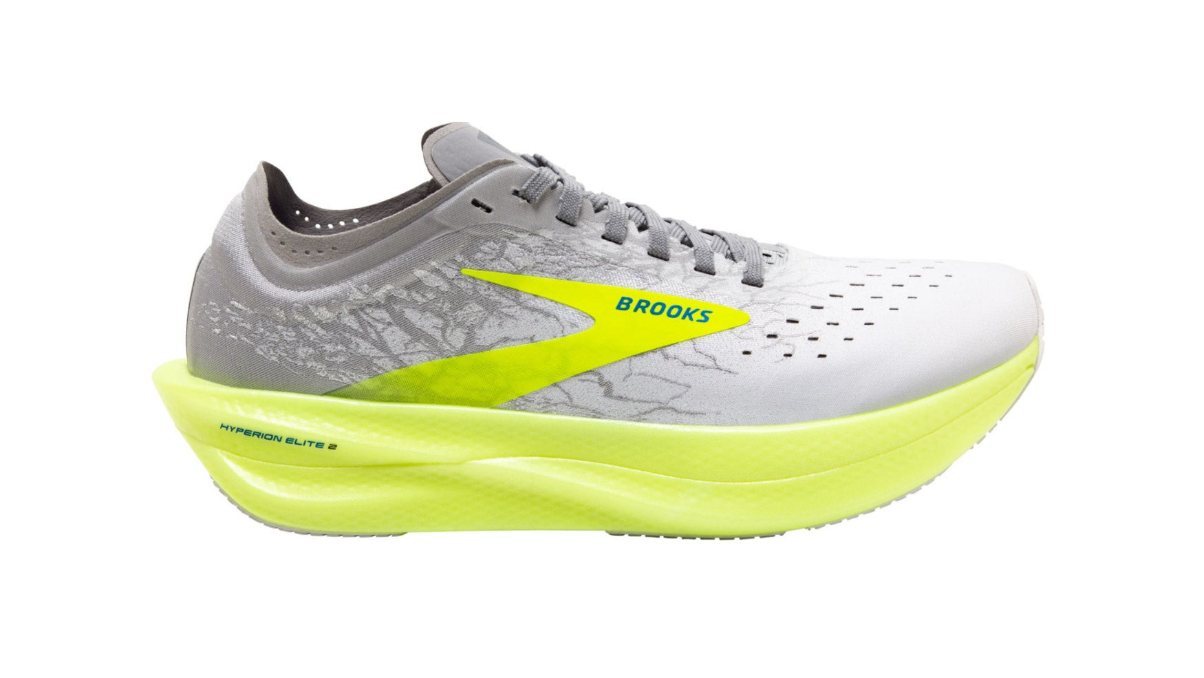 Yellow and gray Brooks Hyperion Elite 2