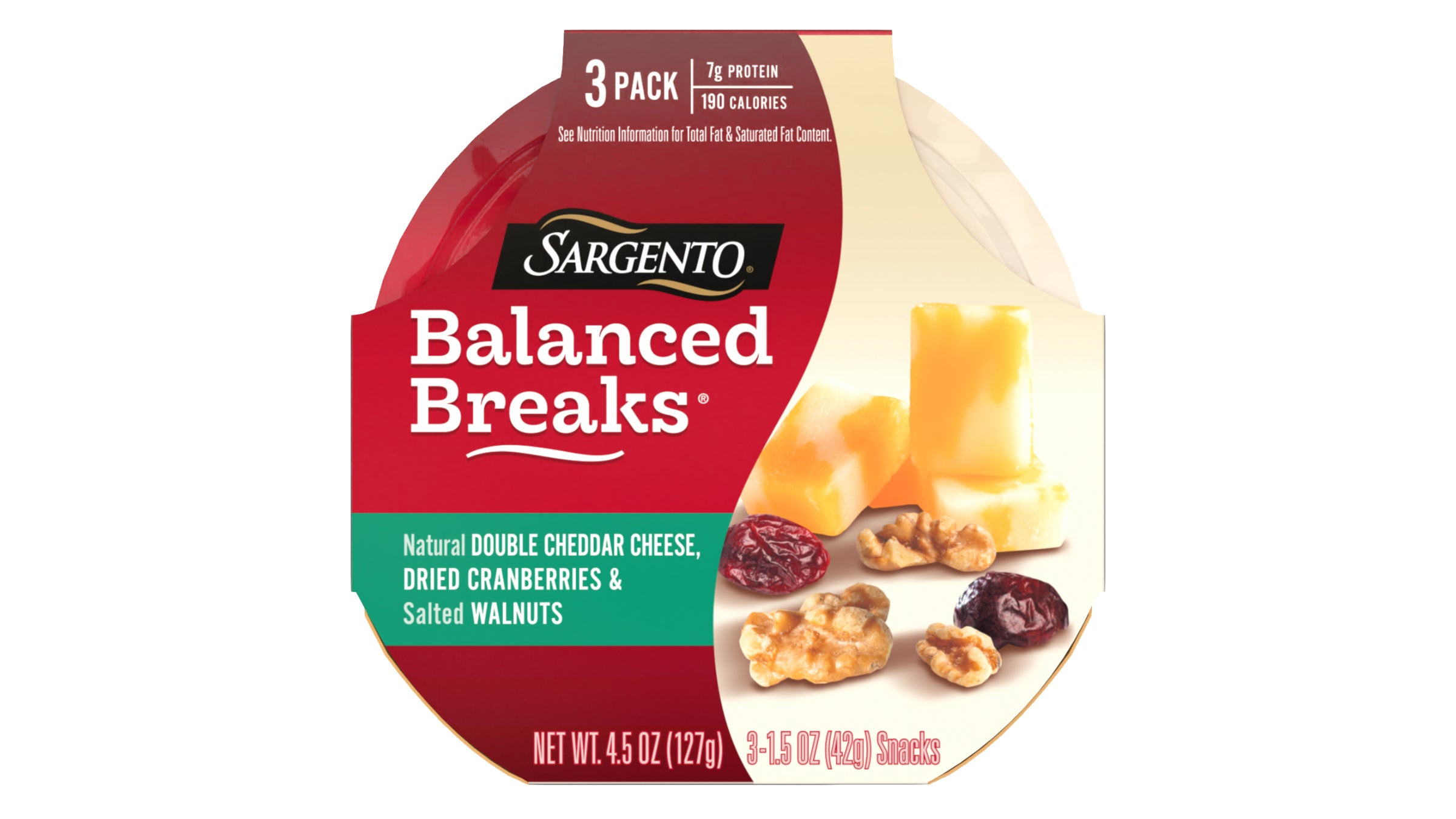 Sargento Balanced Breaks Cheddar Cranberries and Walnuts